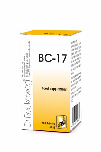 Schuessler BC17 combination cell salt - tissue salt